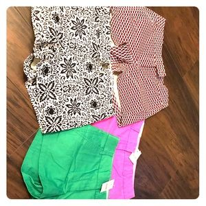 NWT J Crew City Fit Shorts - Lot of 4